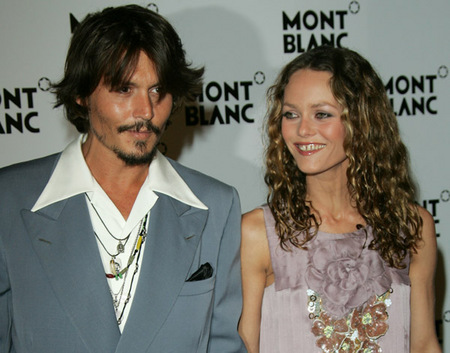 johnny depp and vanessa paradis. girlfriend Vanessa Paradis