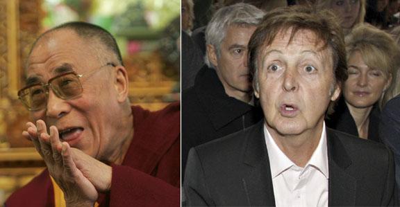 Paul McCartney Slams Dalai Lama over meat eating