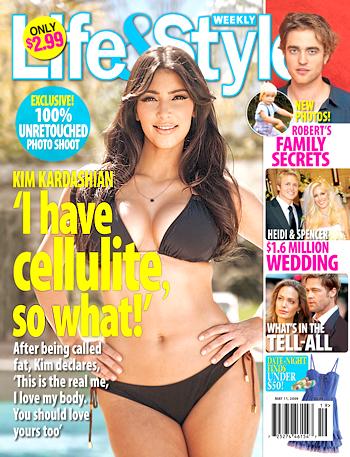 kim kardashian cellulite pictures. Kim Kardashian Opens Up About