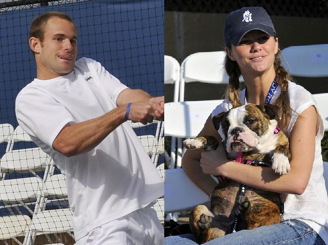 andy roddick and brooklyn decker kiss. Tennis star Andy Roddick
