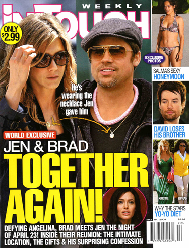 Brad Pitt And Jennifer Aniston. Brad and Jennifer got