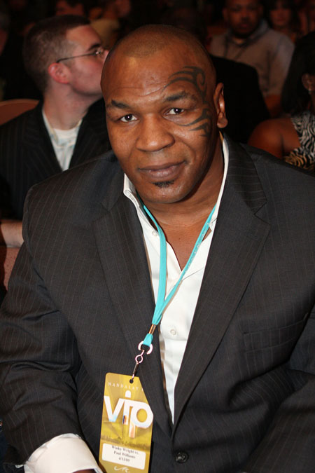 mike tyson shirtless. Mike Tyson is shown on 4/16/09
