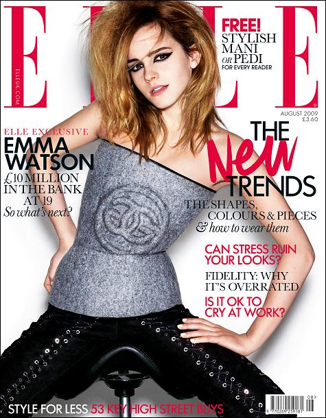Emma Watson is the cover girl for the August issue of Elle UK. The magazine