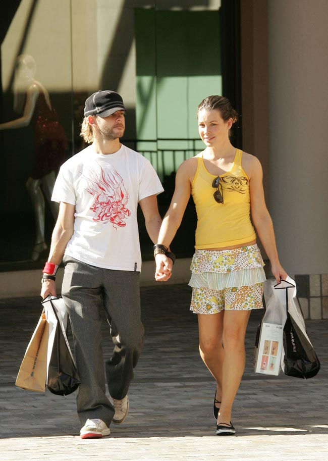 celebitchy evangeline lilly amp dominic monaghan