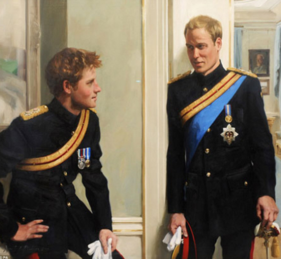prince william and harry portrait. Anyway, Prince Harry