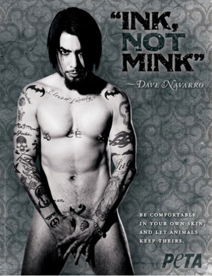 Dave Navarro's Batman tattoos & naked PETA ad: sexy or gross?