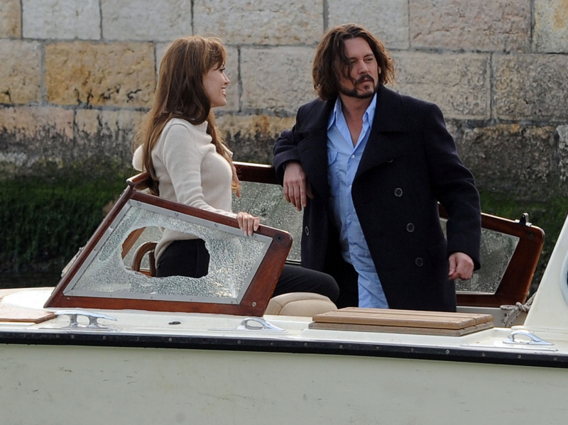 Here are Angelina Jolie and Johnny Depp enjoying a little downtime in