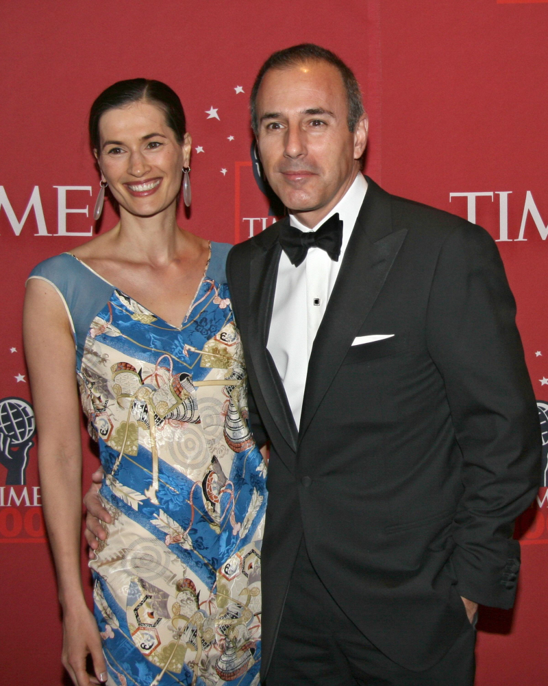 husband Matt Lauer with his wife Annette Loque