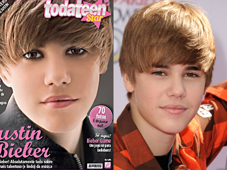Cele|bitchy | Justin Bieber either posed with a full face of ...
