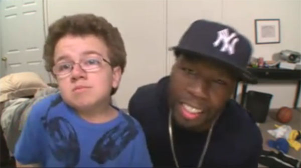 50 Cent does lip sync duet with YouTube star Keenan Cahill