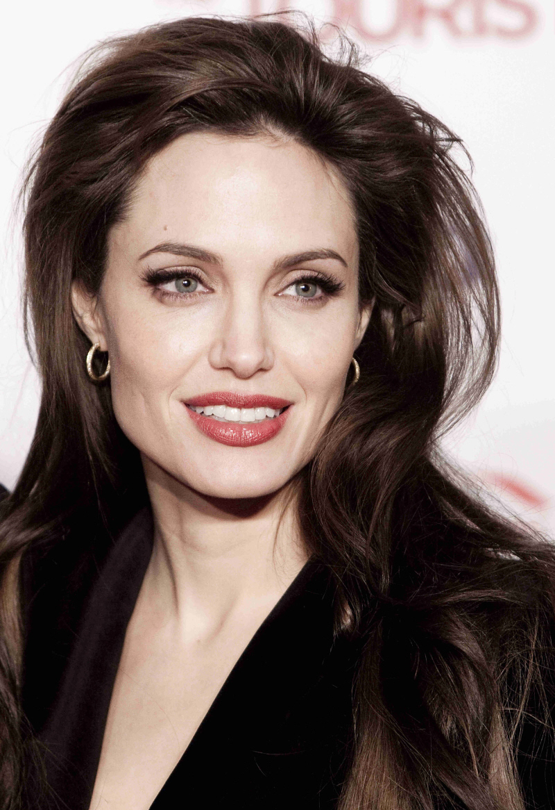 Angelina Jolie Red Hair. Angelina Jolie's big hair, red lips, velvet jacket & silk pants in Rome