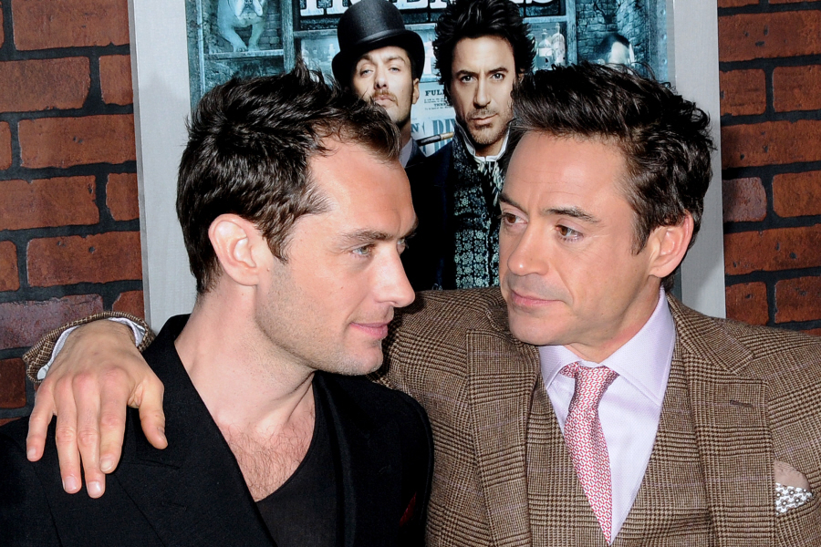 Robert Downey Jr Jude Law Slash Jude law is pissed at robert