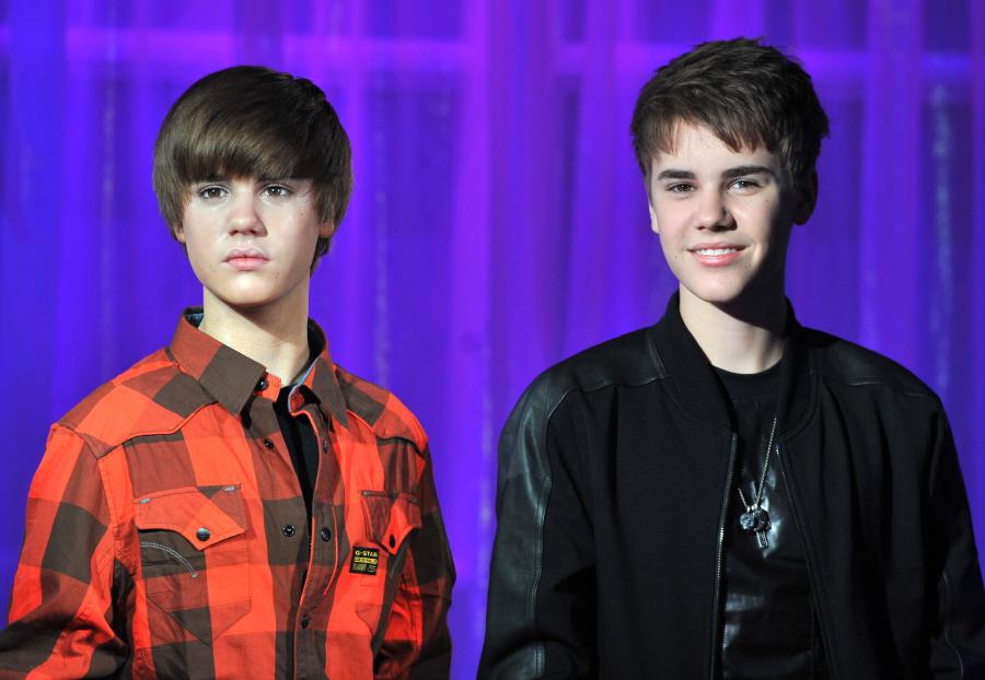 justin bieber waxwork. photos of Justin Bieber,