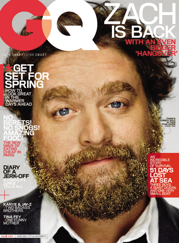 shia labeouf gq cover. Zach Galifianakis is the cover