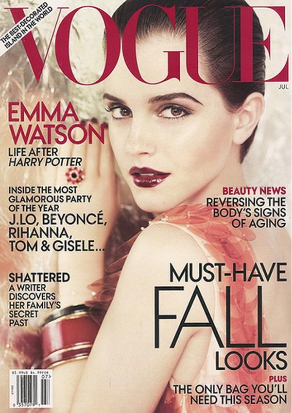 emma watson vogue 2011 cover. Emma Watson#39;s July 2011