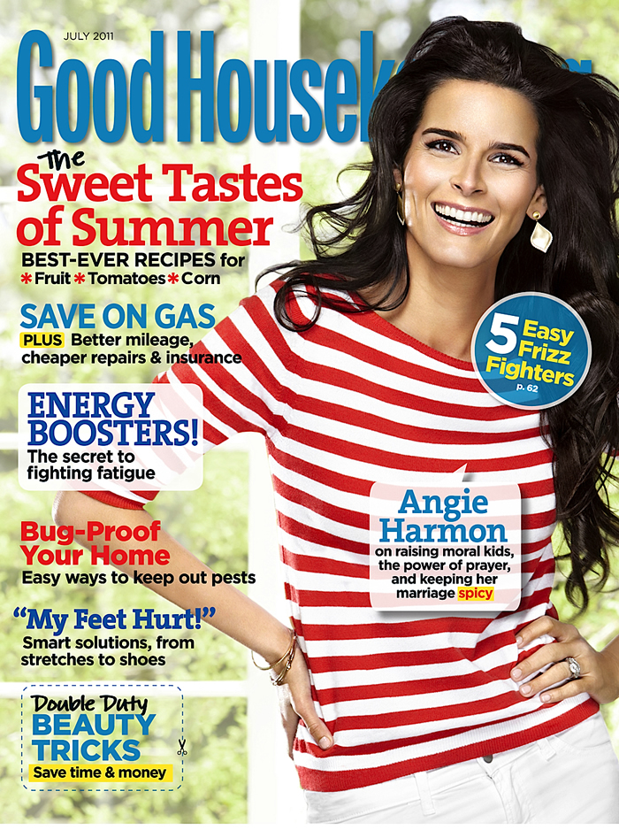 who is angie harmon married to. Angie Harmon covers the July
