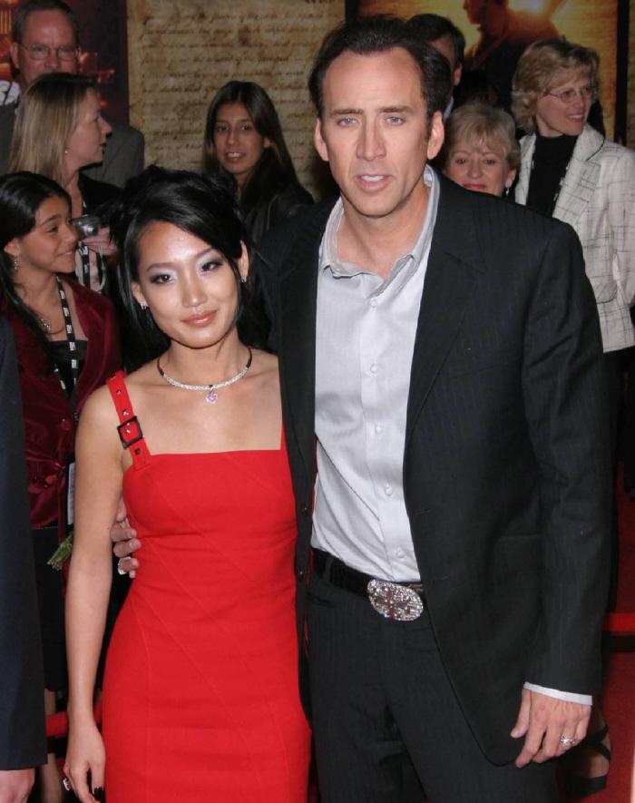 Nicolas Cage with beautiful, Wife Alice Kim Cage
