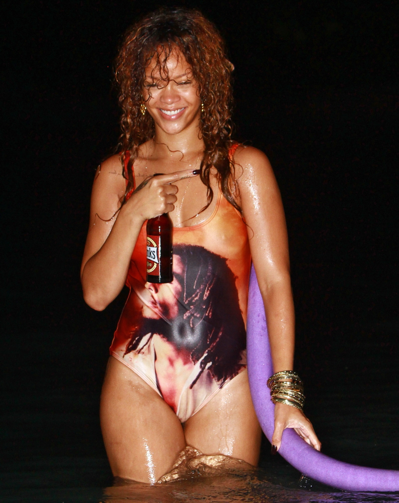 Rihanna's Barbadian vacation looks like so much liquor-soaked fun