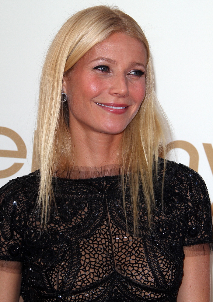 Gwyneth Paltrow in belly-baring, beaded Pucci: dated, fug or hot ...