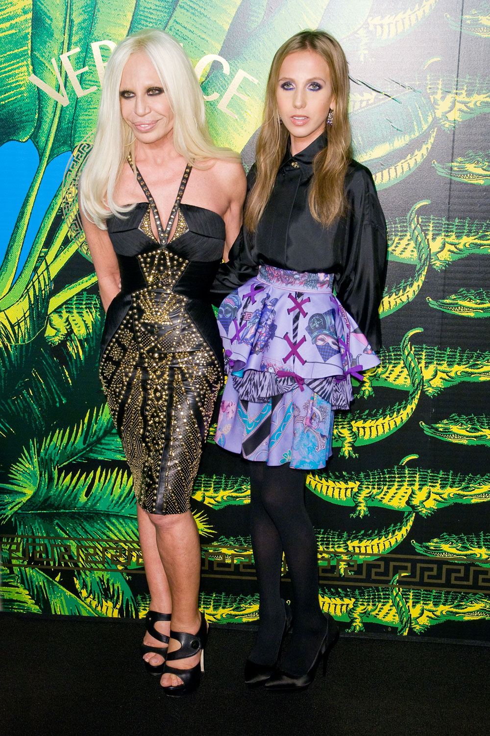 Donatella is shown with her daughter, Allegra, on 11/8/11. Allegra has ...