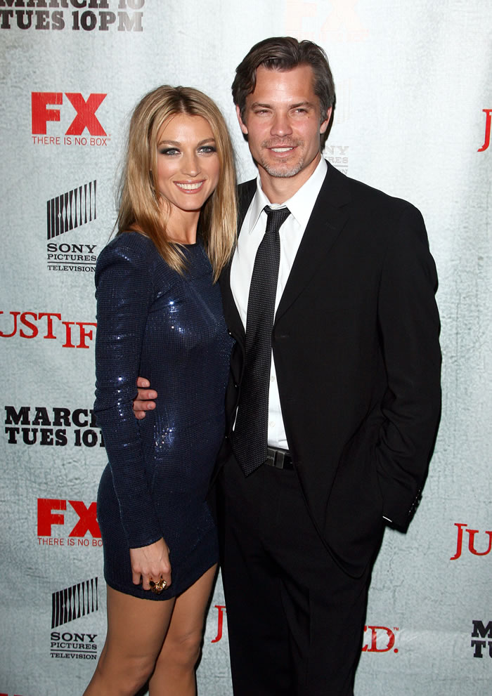 Alex with her husband Timothy Olyphant