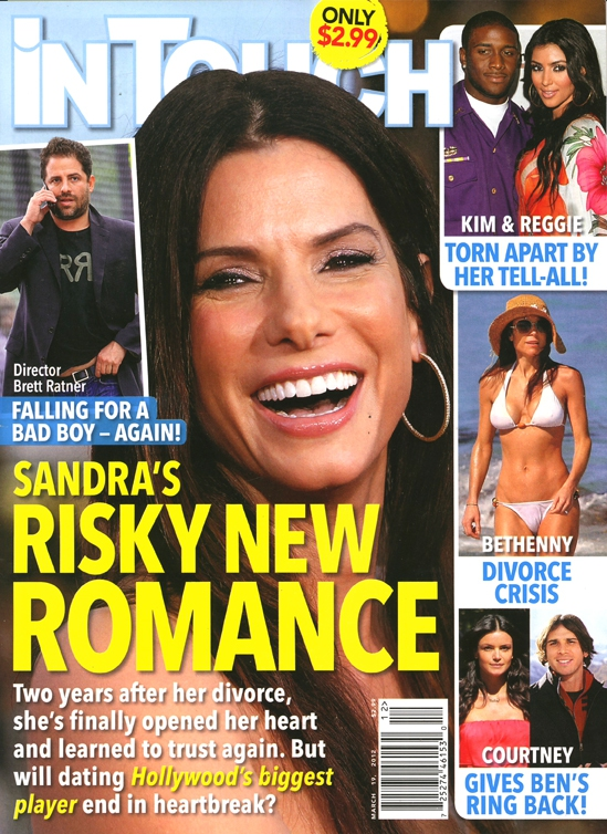 """In Touch has a new cover story all about """"Sandra Bullocks risky new romance ..."""