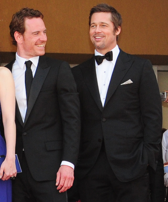 Michael Fassbender Then Now Michael Fassbender And Brad Pitt