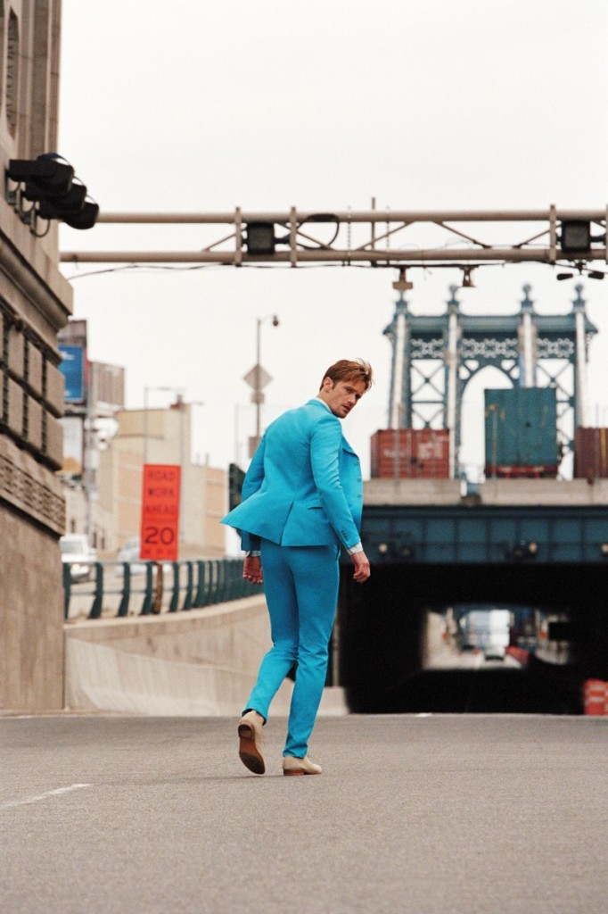 Alexander Skarsgard in a tight suit