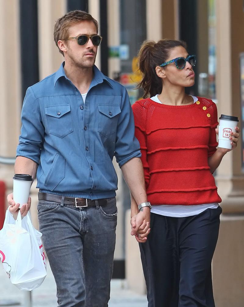 Ryan gosling eva mendes baby bump