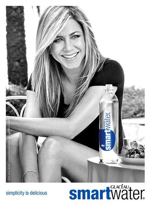 Celebrity drinking voss water