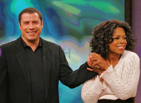 Oprah and John Travolta