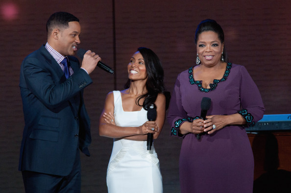 Oprah with Will and Jada Pinkett Smith