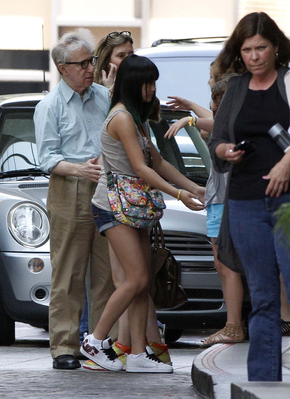 Woody Allen seen for first time since daughters interview