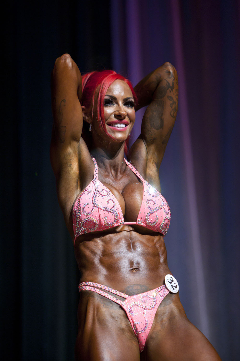 Pin-up Turned Bodybuilder Jodie Marsh Triumphs at Natural Bodybuilding ...
