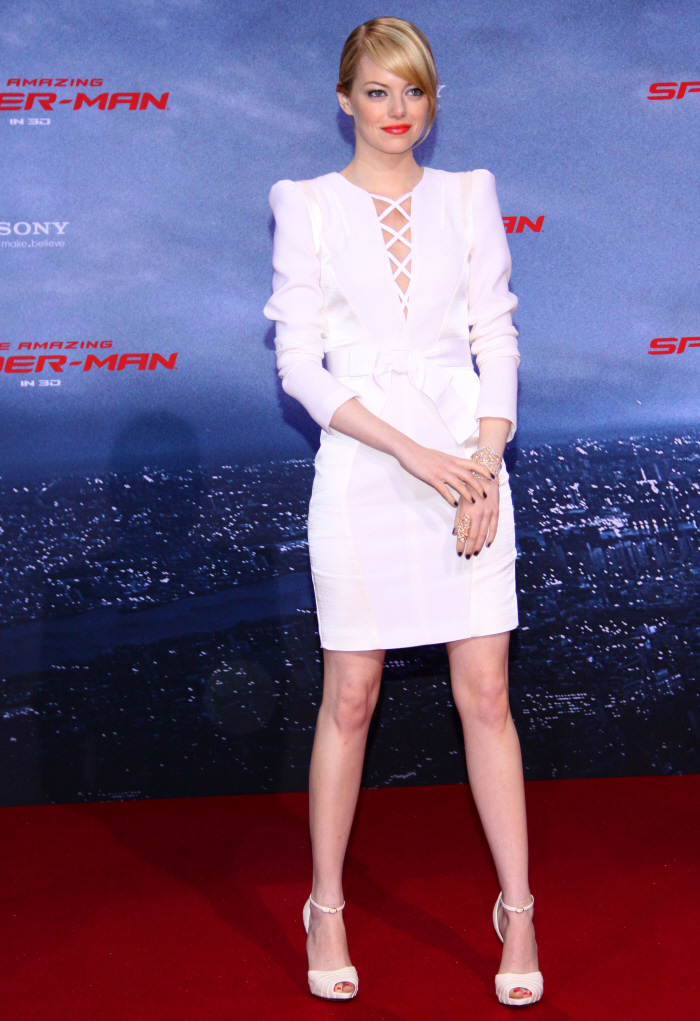 Cele|bitchy | Emma Stone in white Andrew Gn in Berlin ...