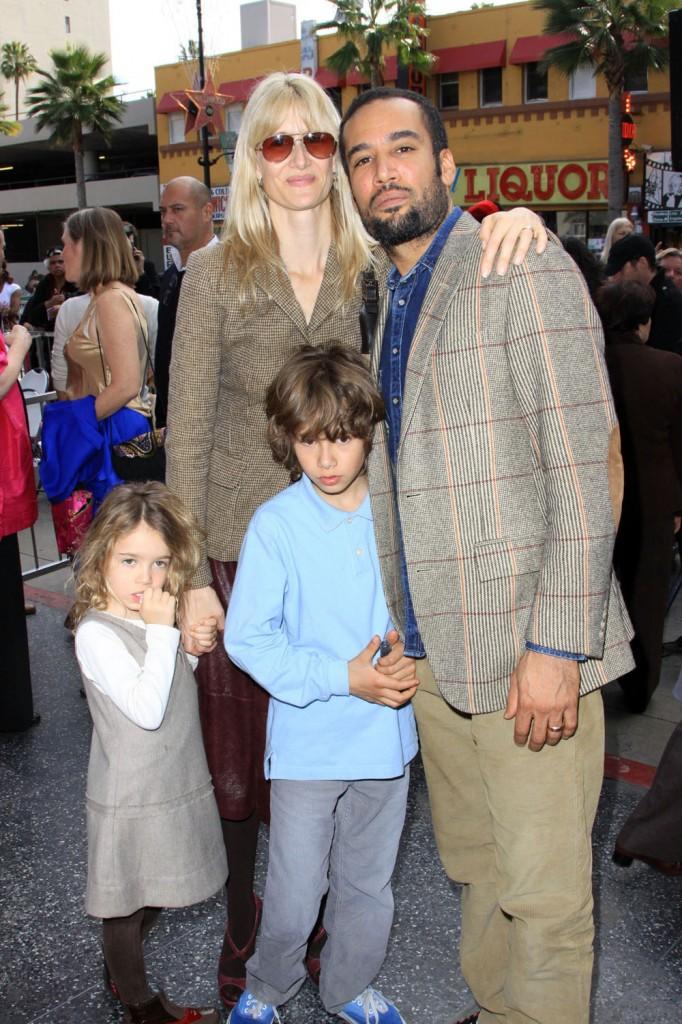 Laura Dern and Ben Harper with their kids