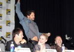 Joe Manganiello, Anna Paquin and Stephen Moyer from the hit show 'True Blood' seen attending a discussion panel at Comic-Con 2012 in San Diego