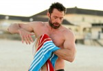 Hugh Jackman Out For An Early Morning Swim