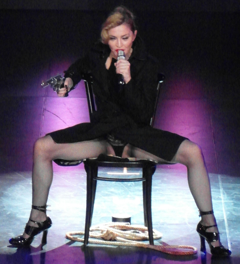 o/t Madonna showing her crotch: gross and desperate ...