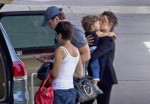 Javier, Penelope & Leo Catch A Flight In Madrid
