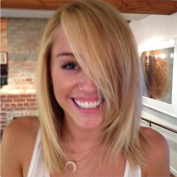 Miley Cyrus with Blonde Hair