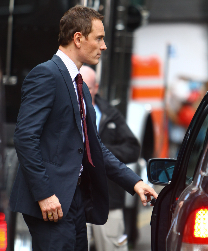Michael Fassbender With Short Hair & A Great