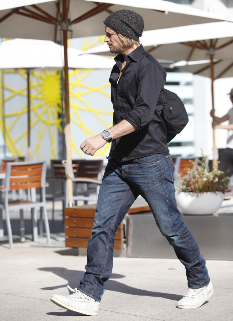 Exclusive... Gabriel Aubry Arrives at Equinox