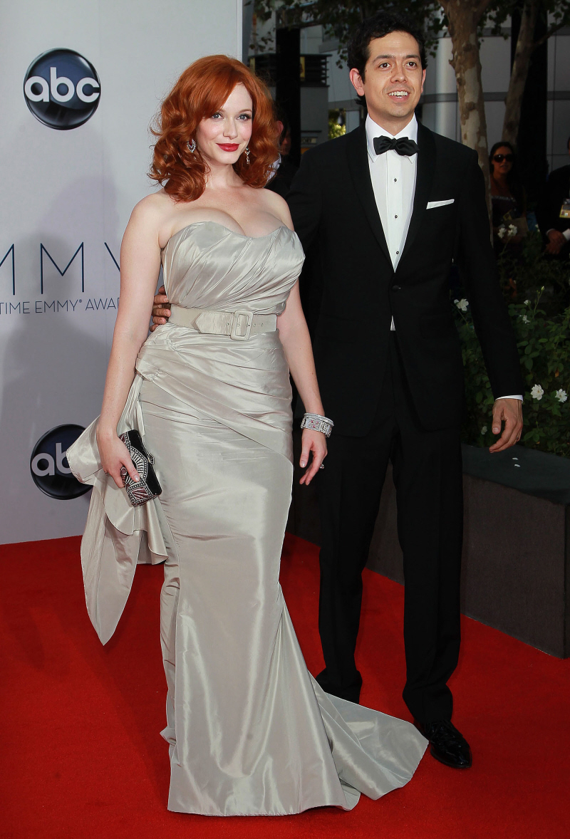 Christina Hendricks and her husband