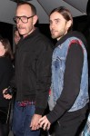 Jared Leto and photographer Terry Richardson are seen heading to Mr Chow with restaurant owner Michael Chow's daughter, China Chow