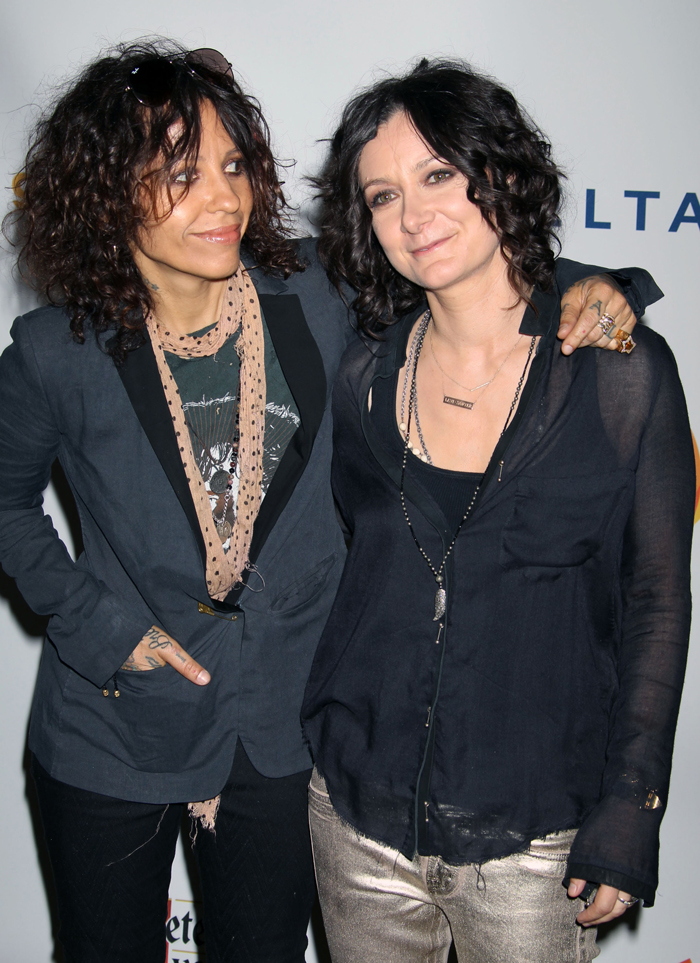 Sara Gilbert and partner