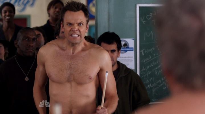 Joel mchale shirtless gif