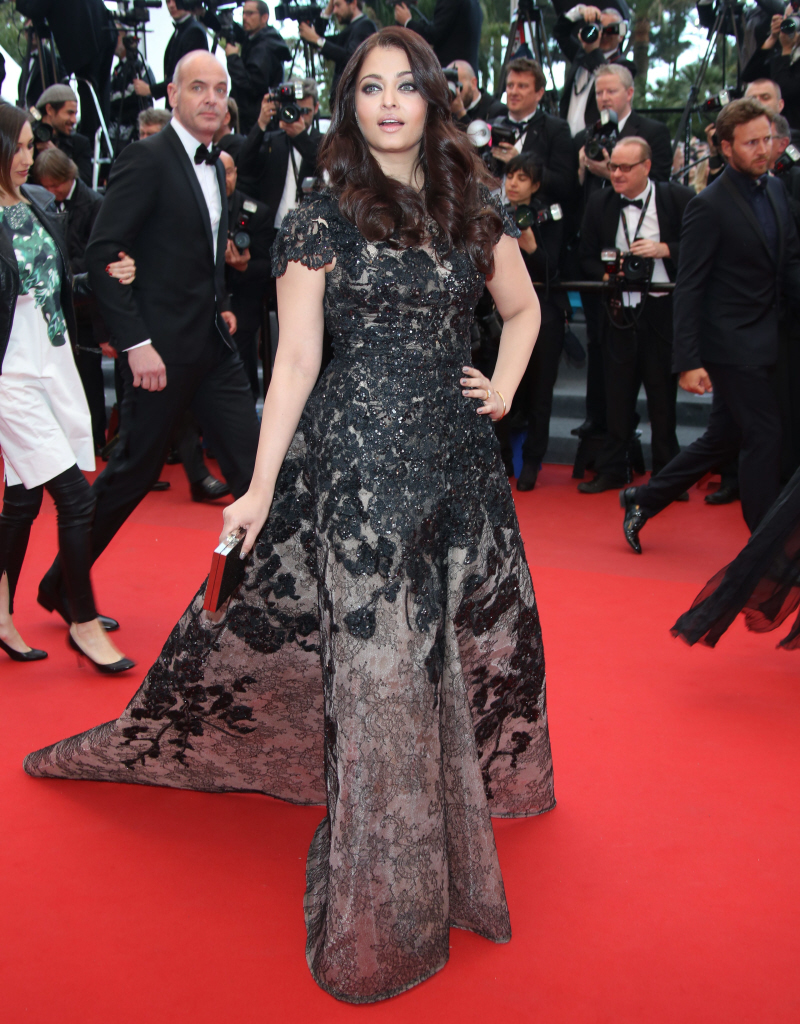 ... Rai shows off her weight loss in Elie Saab in Cannes: gorgeous