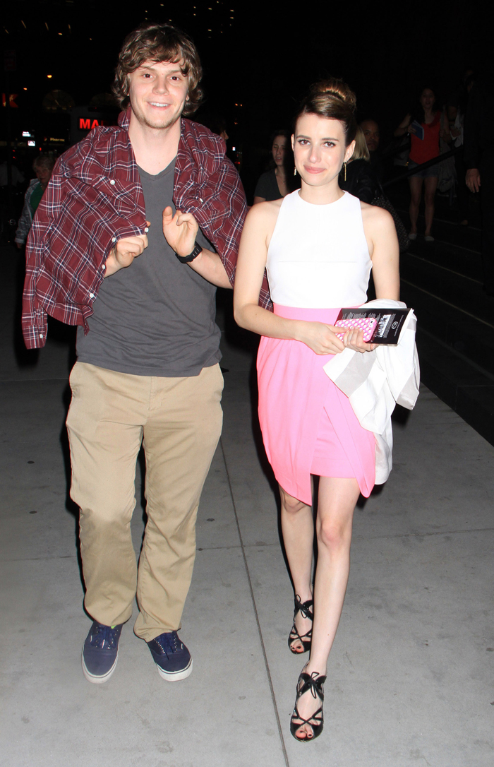 Evan Peters And Emma Roberts Crying