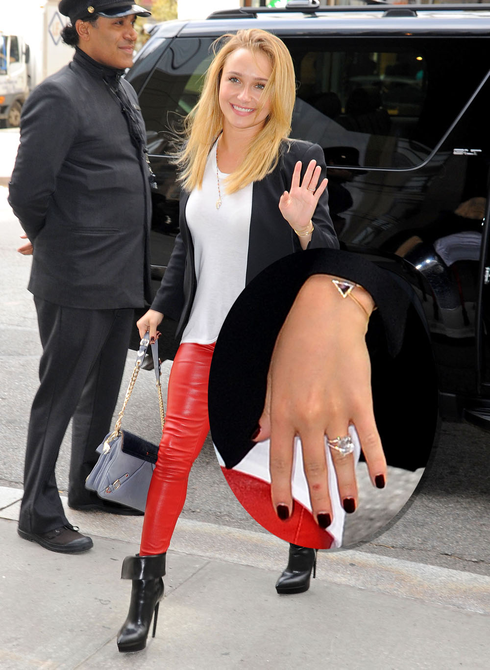 Engaged Hayden Panettiere Shows Off Her Diamond Ring